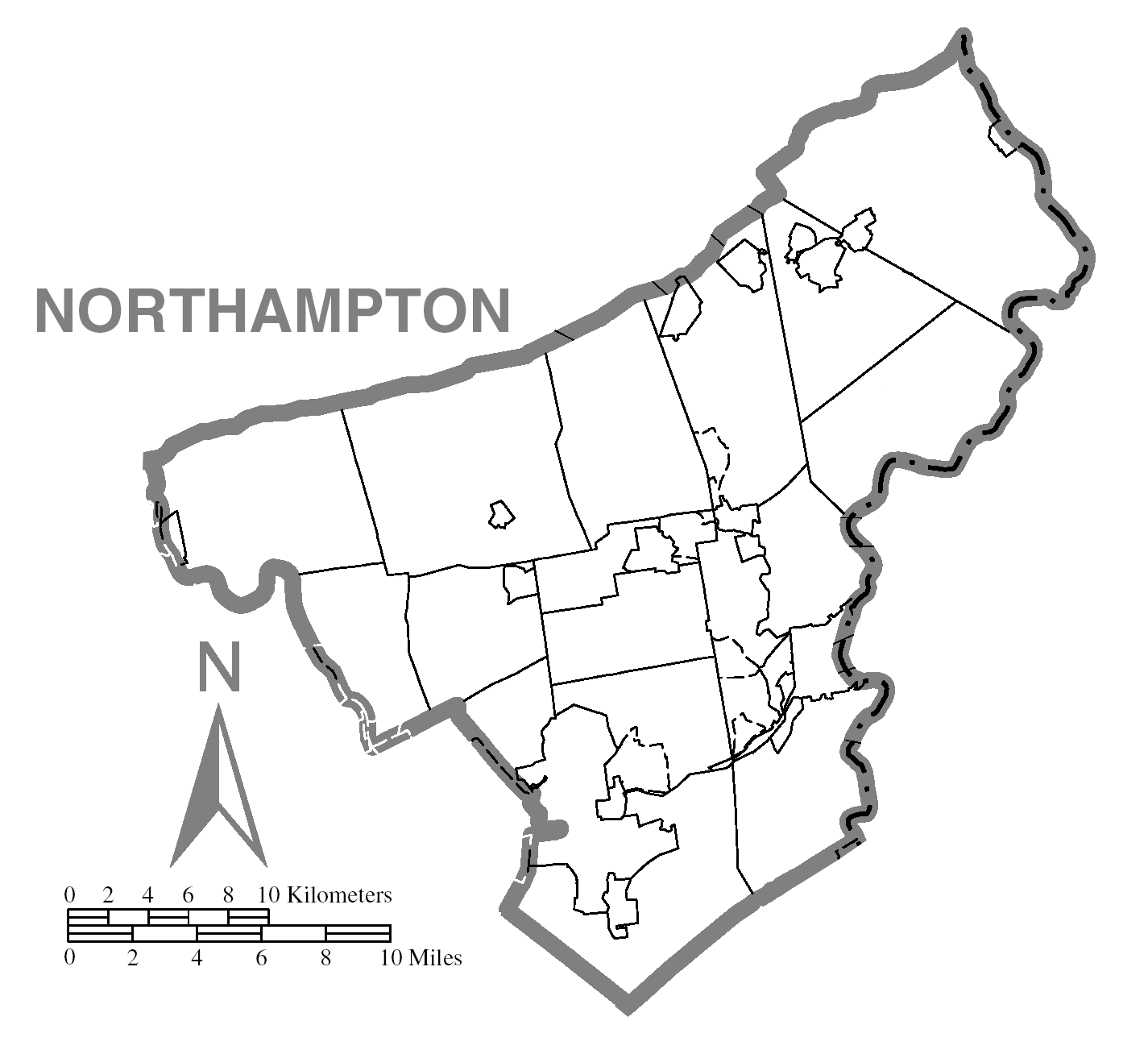File:Map of Northampton County, Pennsylvania No Text.pngnorthampton county