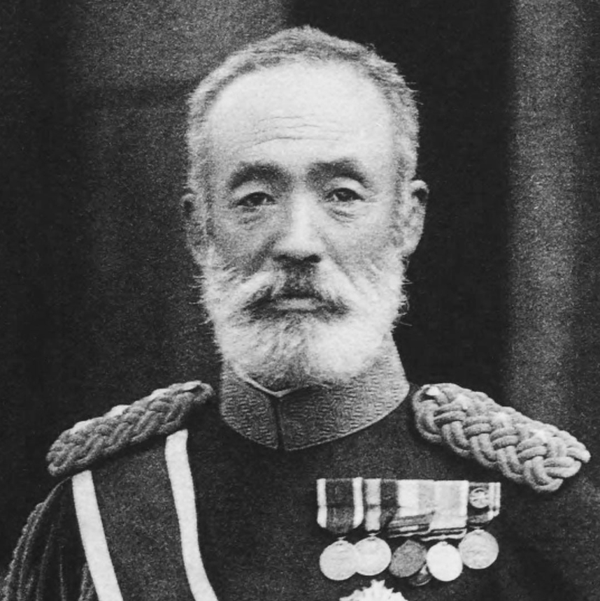 Count Nogi Maresuke, a general in the Imperial Japanese Army and the third governor of Taiwan. Maresuke Nogi 2 cropped.jpg