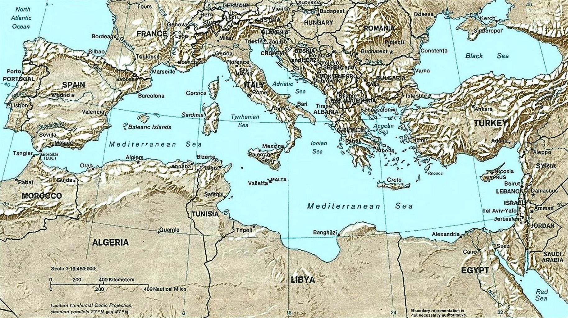 List of Mediterranean countries - Wikipedia