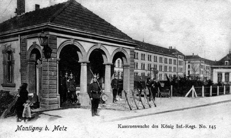 Kaserne des InfRgt Nr. 145 in Metz (Caserne Raffenel á Metz)