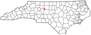 Location in Guilford County and the state of North Carolina