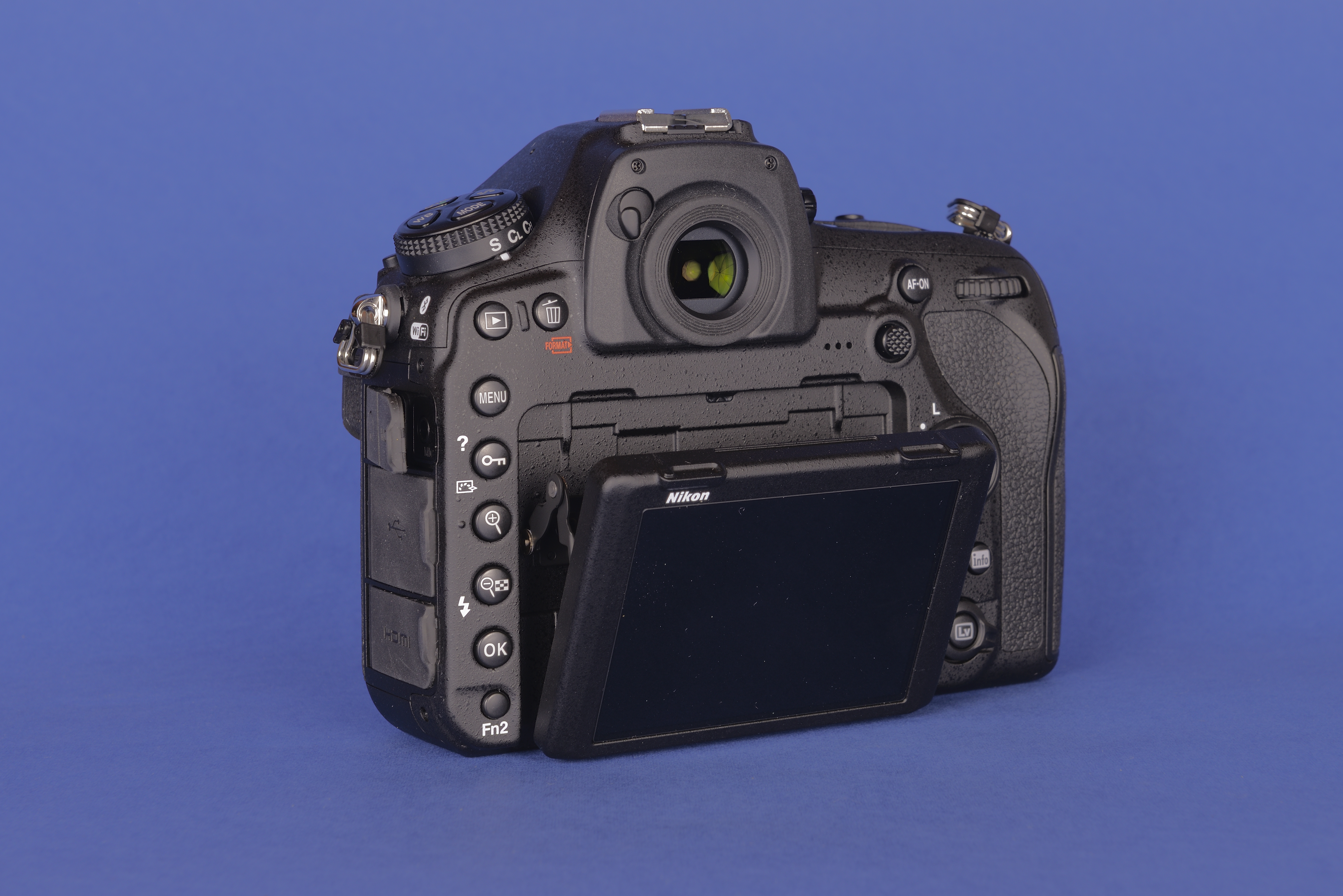Nikon D850 Wikipedia Camera Parts Diagram F3 P Rear Of The With Articulating Screen
