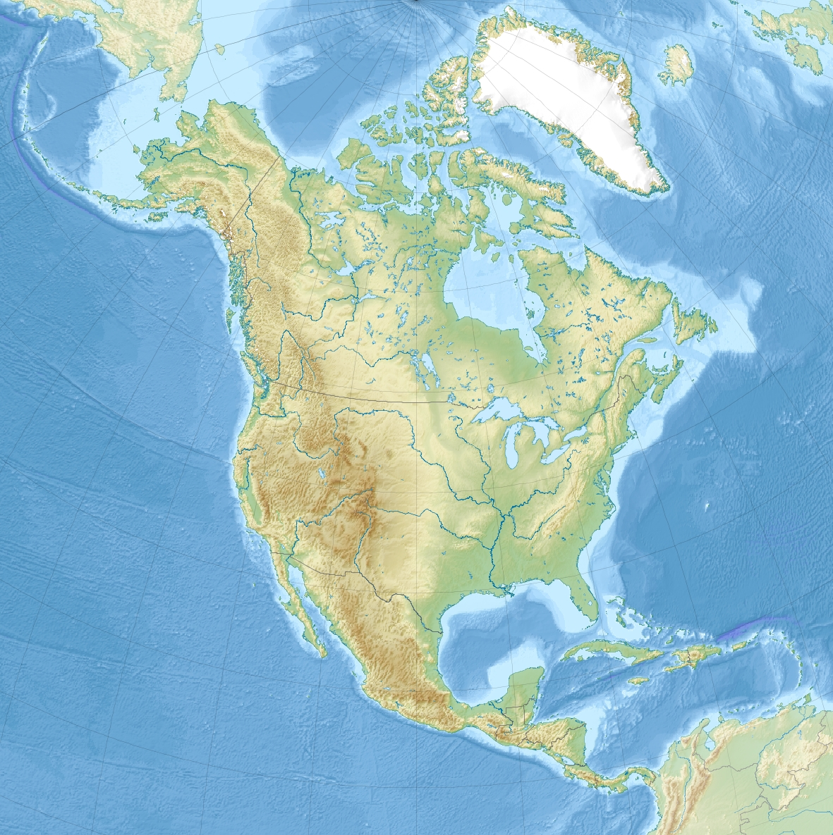 TemplateLocation Map North America Wikipedia - Map of n america