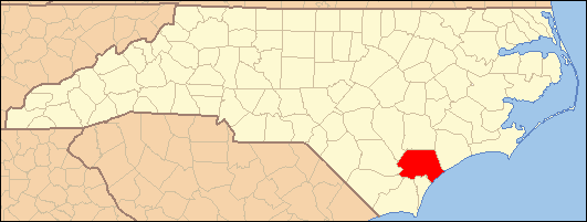 Pender County Nc Map.National Register Of Historic Places Listings In Pender County