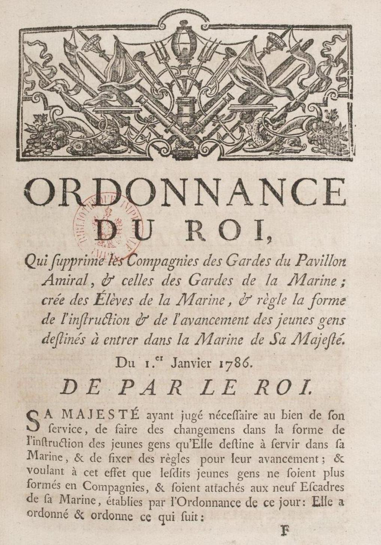 File:Ordonnance de Castries qui supprime les gardes marines en 1786.jpg