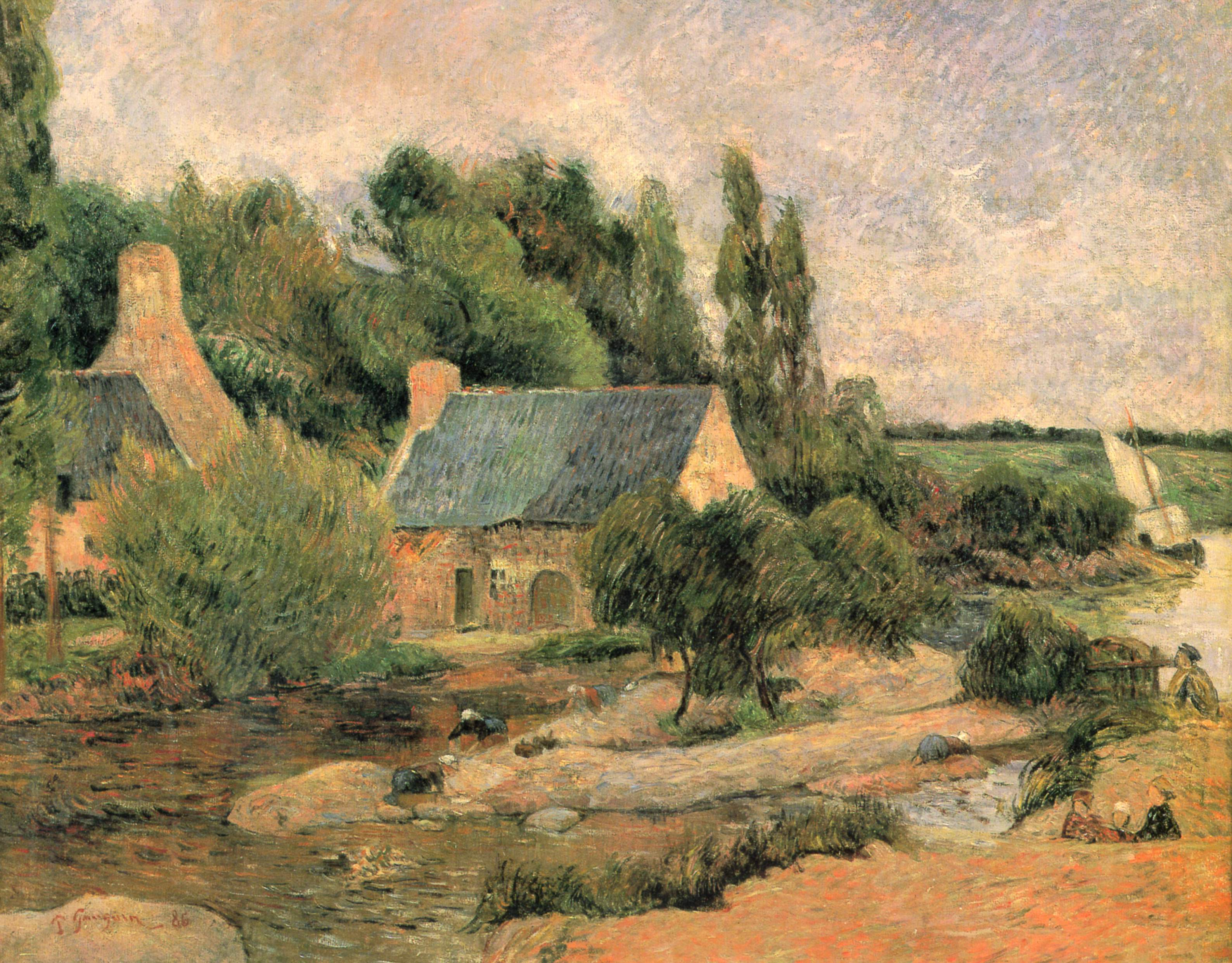 Landschaftsmalerei impressionismus  Paul Gauguin – Wikipedia