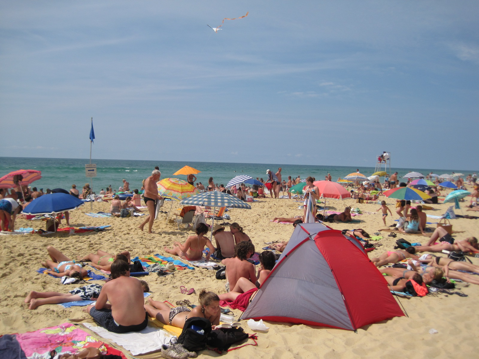 beaches get crowded during summer vacation