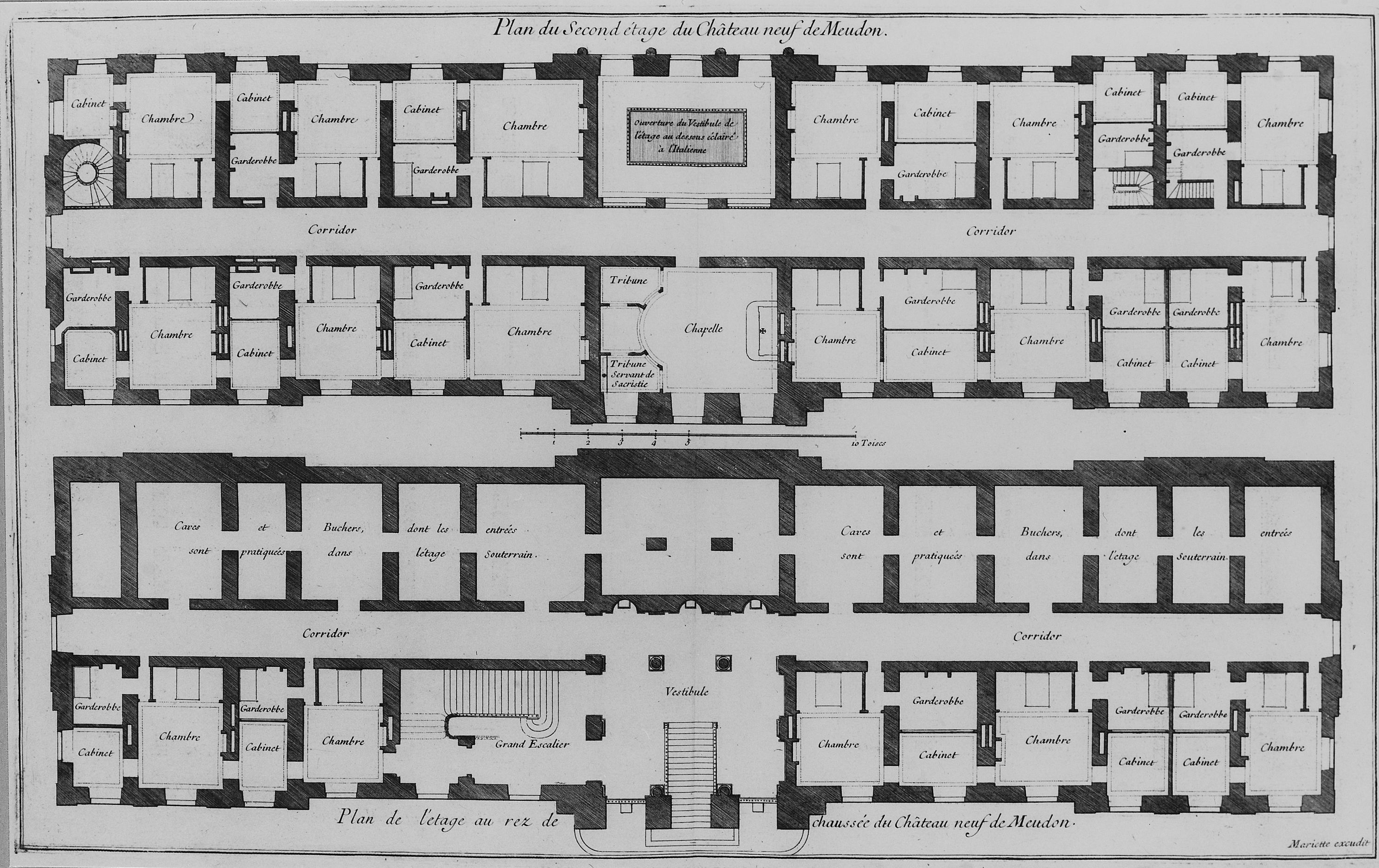 File:Plans of ground floor and second floor of the Chateau ...