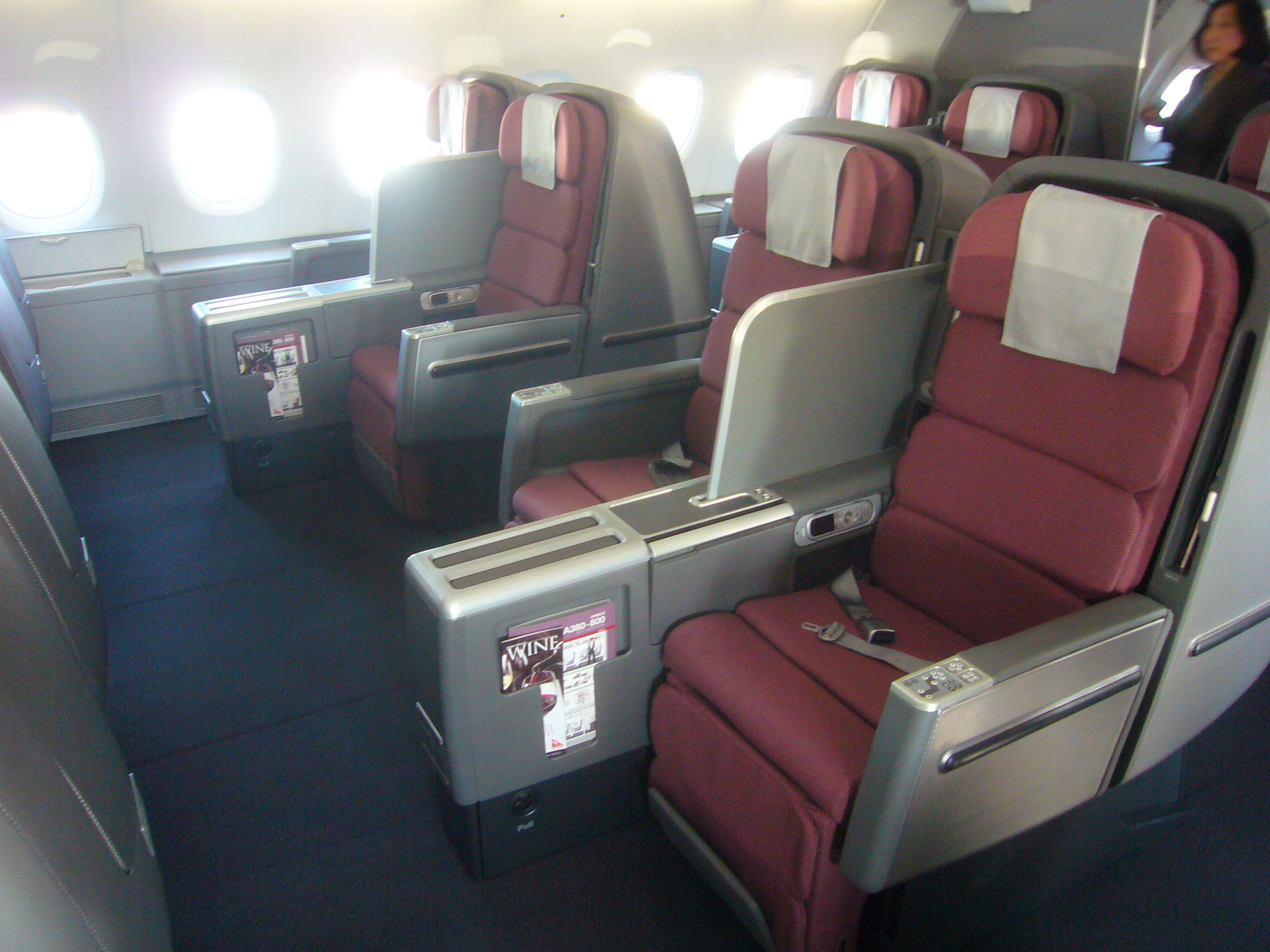 gallery qantas airbus a380 business class