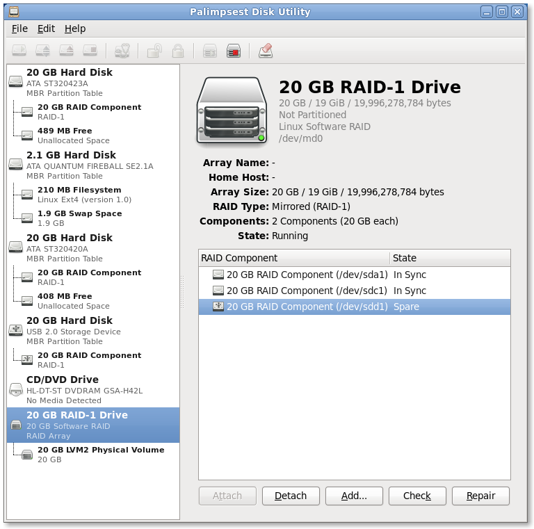 RAID-1 component swapping on Fedora-12 Screenshot09.png