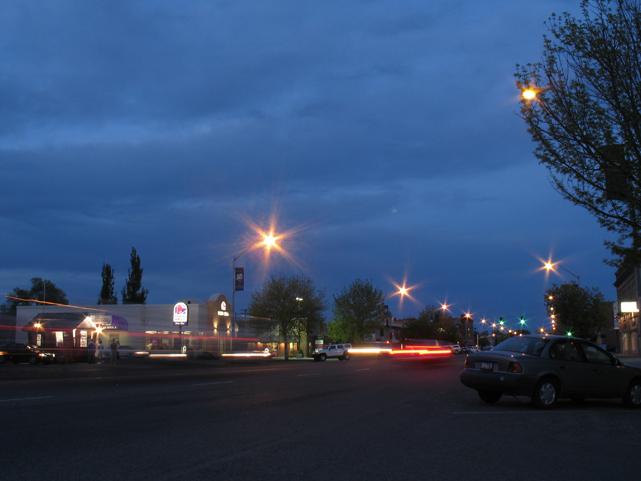 Rexburg, ID at dusk