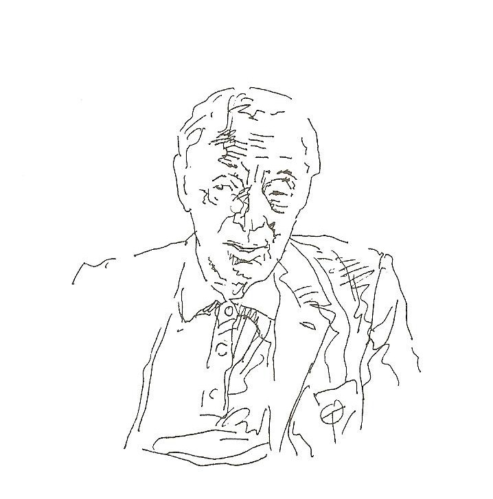 Saul Bellow (drawing by Zoran Tucić)