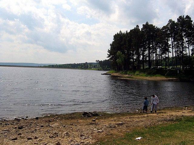 Shoreline at Tunstall Reservoir - geograph.org.uk - 1326934