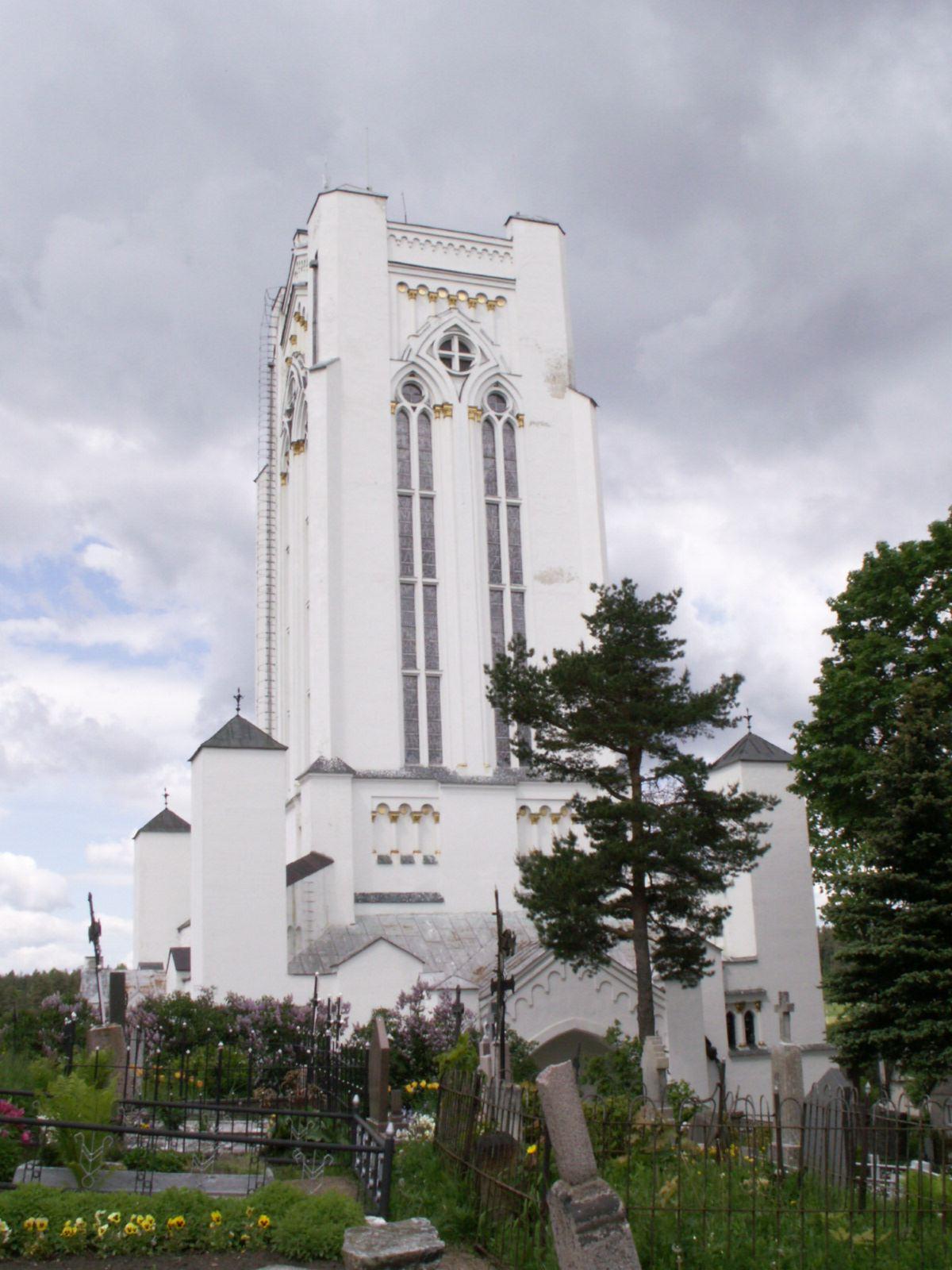 Kapellet Sveikata ligonių i Šiluva tegnet av Antoni Wiwulski (lit: Antanas Vivulskis) (1877-1919), polsk-litauisk arkitekt og billedhogger