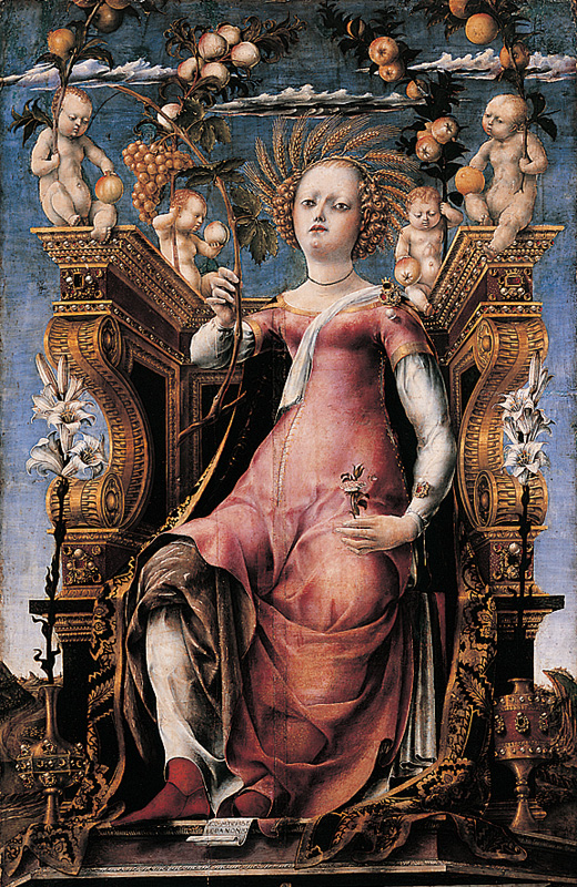 Michele Ongaro: Thalia (1456), Szépművészeti Múzeum, Budapest