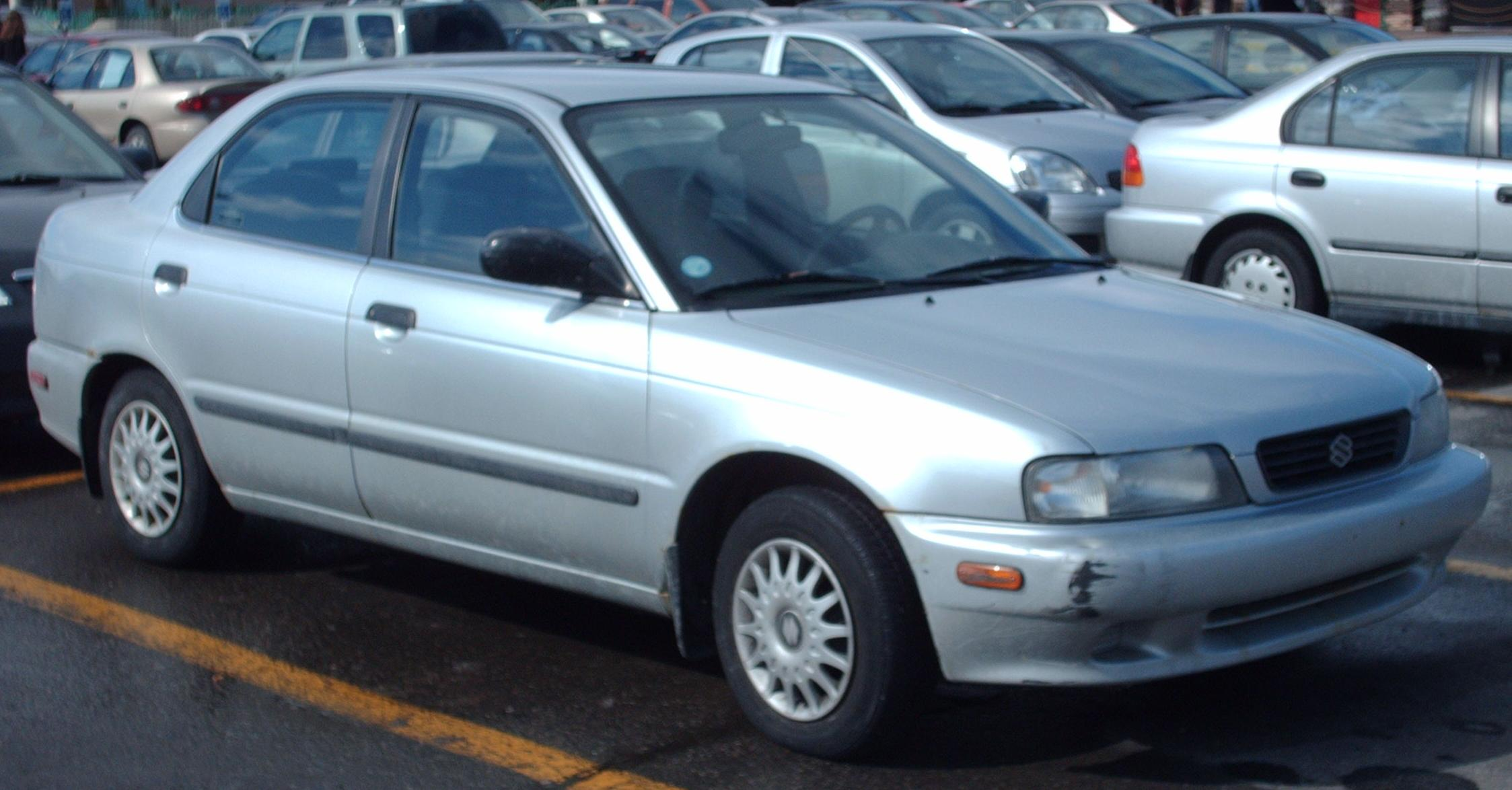 1996 suzuki esteem sedan north america