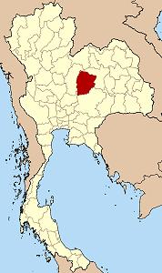 แผนที่ประเทศไทย เน้นจังหวัดชัยภูมิ