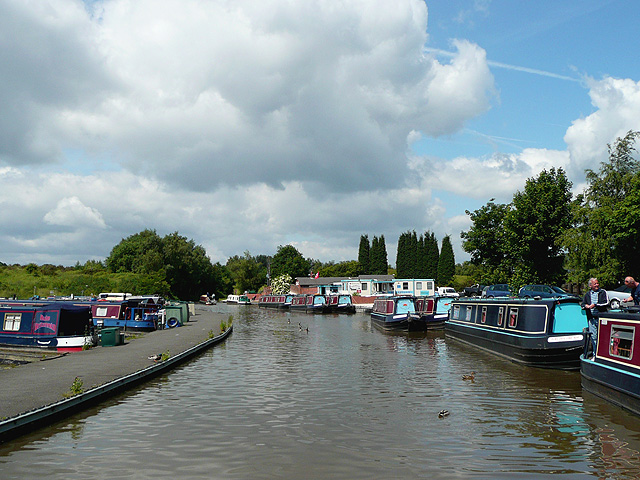 The Coventry Canal at Alvecote, Warwickshire - geograph.org.uk - 1155760