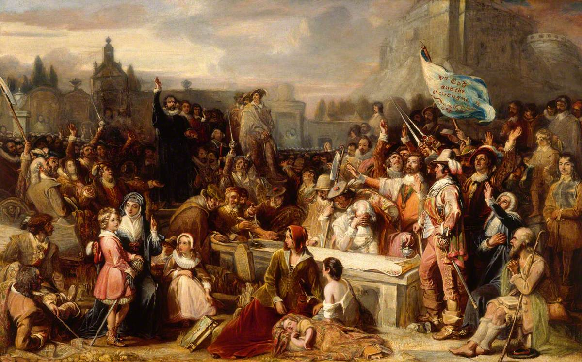 The Signing of the National Covenant in Greyfriars Kirkyard, Edinburgh (1838) by William Allan