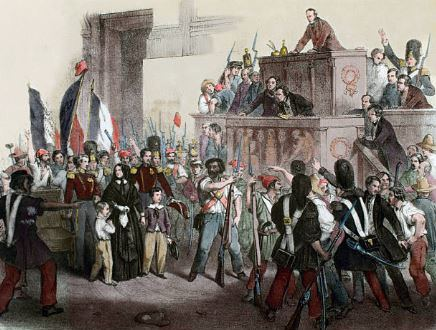 The duchess of Orleans enters the National Assembly trying to be proclaimed regent, 24 february 1848.jpg