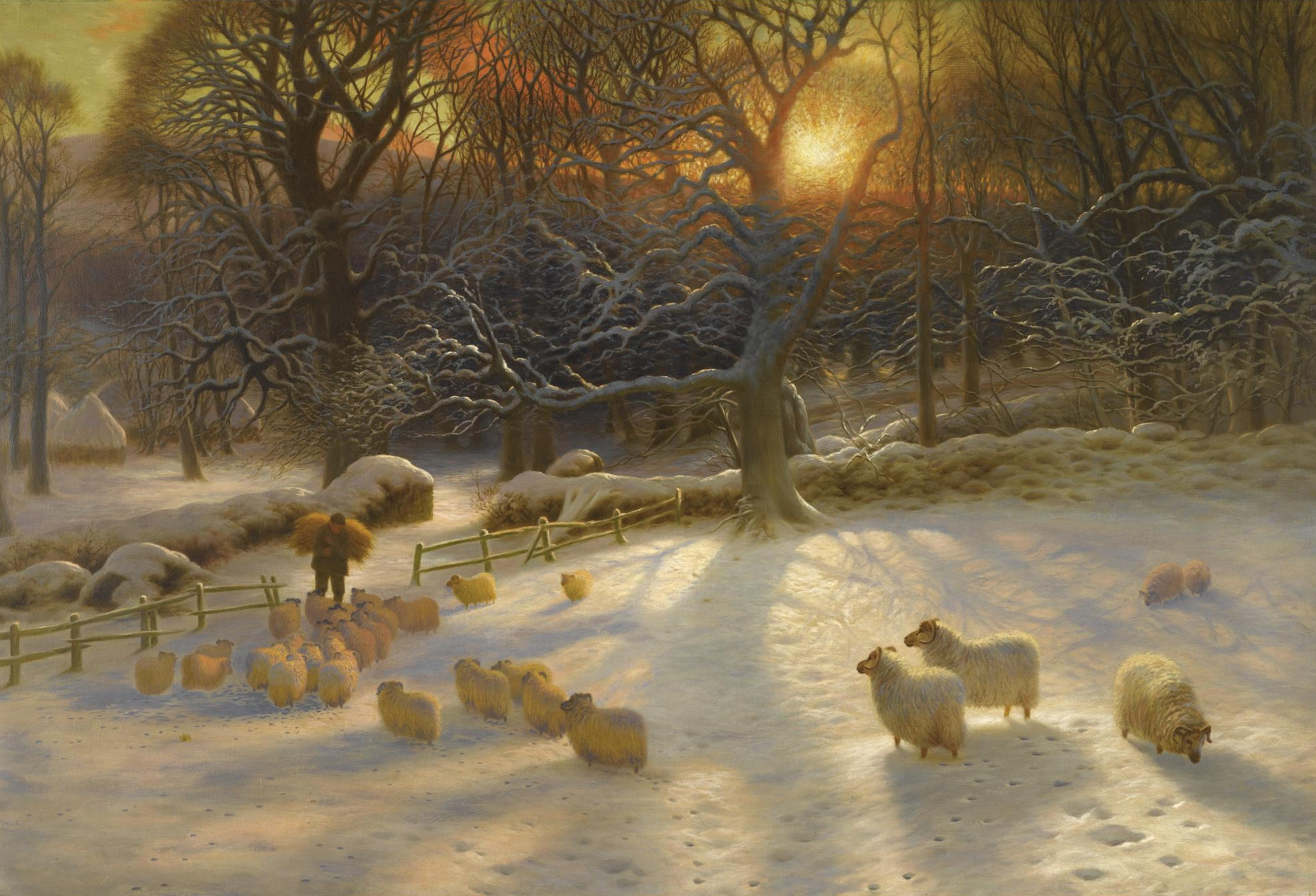 Joseph Farquharson: 'A Shortening Winter's Day is Near a Close' (1903)(from Wikimedia Commons)