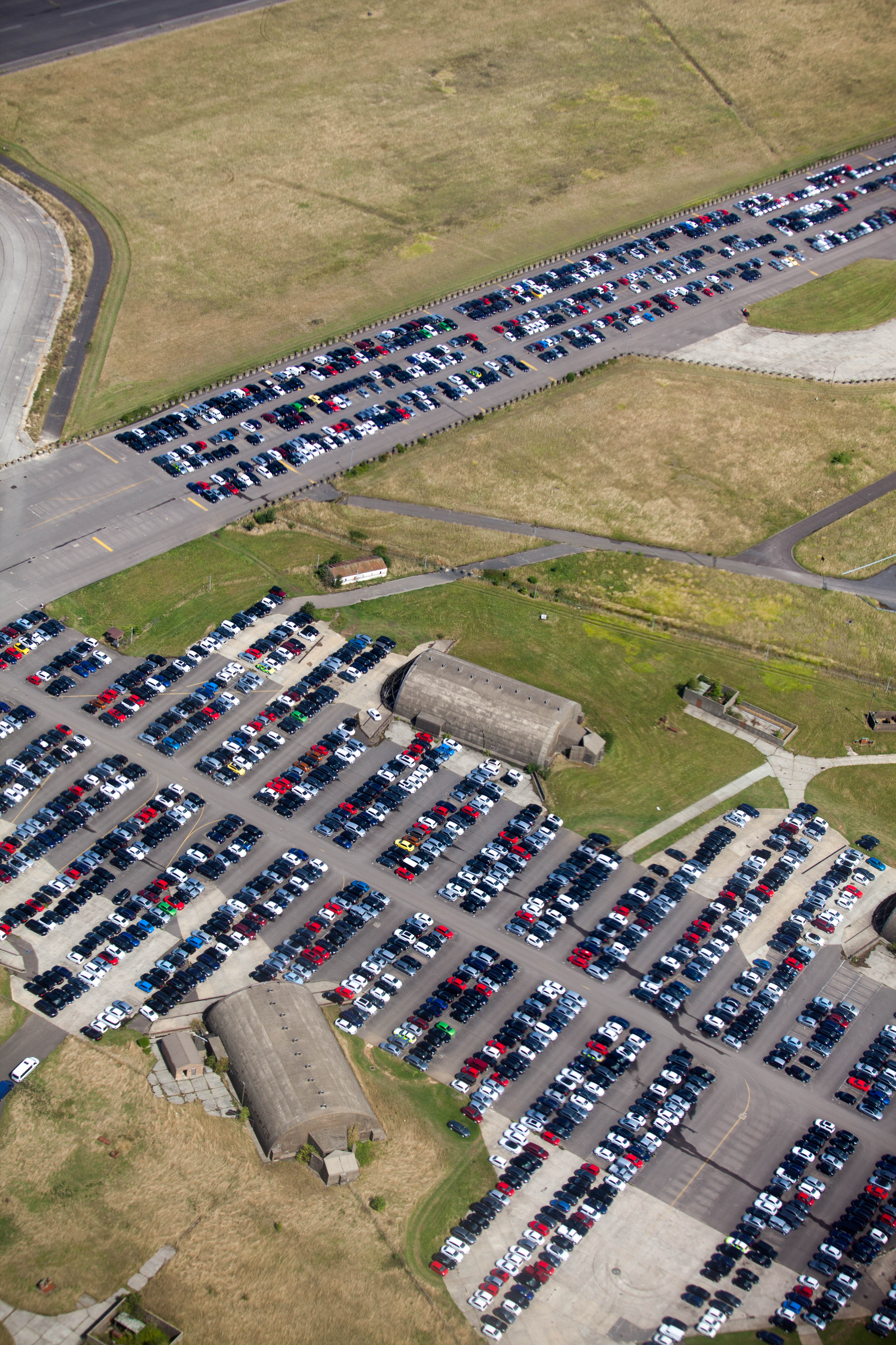 File:This could be one of those former airfields where the car ...