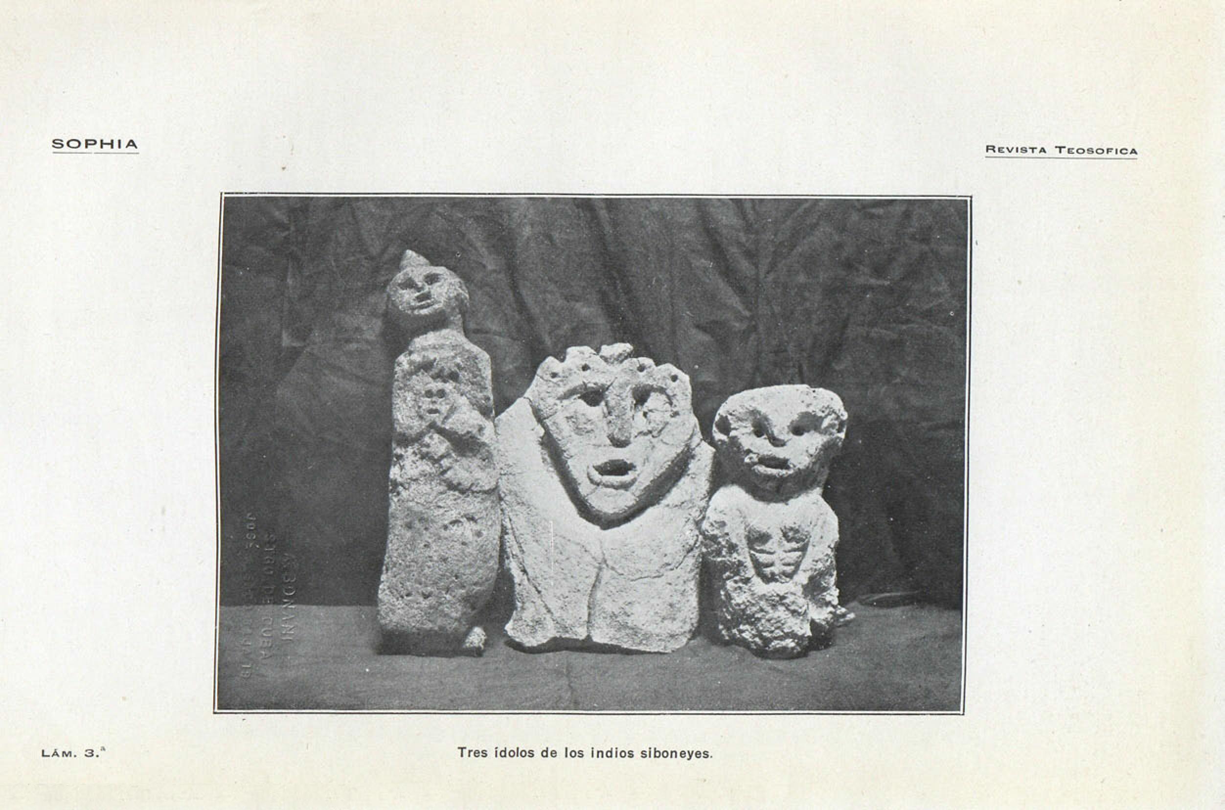 Archivo:Tres ídolos de los indios siboneyes, Sophia, septiembre ...