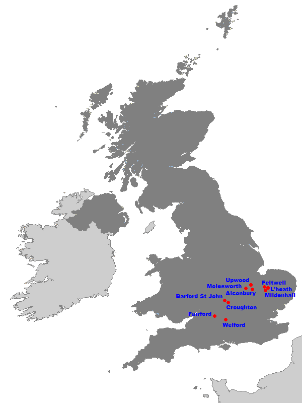 United States Air Force In The United Kingdom Wikipedia - Map of us air force installations