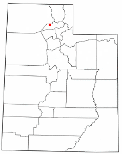 Location of Plain City, Utah
