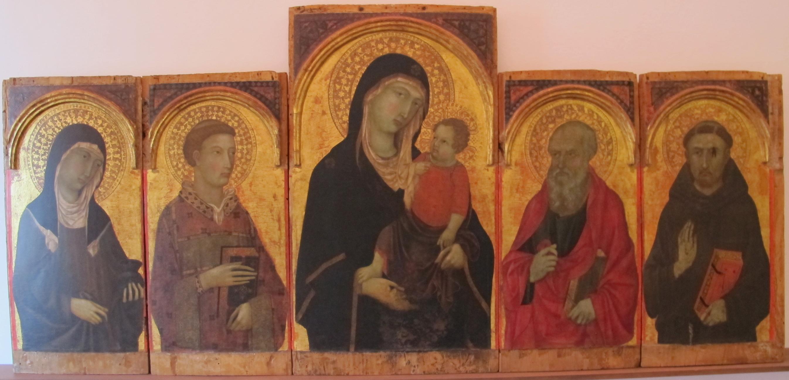 File:Ugolino di nerio, madonna col bambino e santi, 1319.JPG