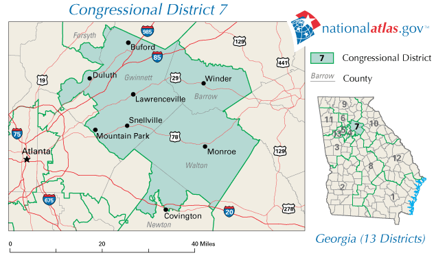 FileUnited States House Of Representatives Georgia District - Us house district 13 map