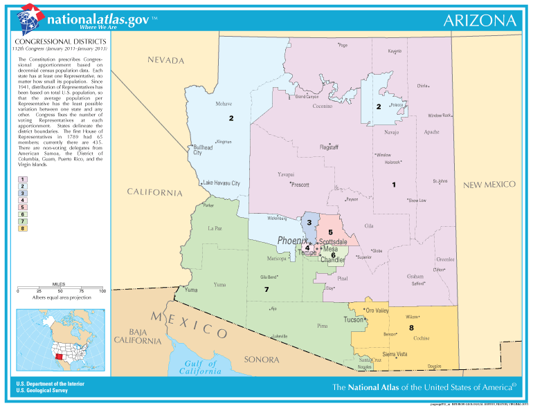 FileUnited States House Of Representatives Arizona Congressional - Us 2011 congressional district map