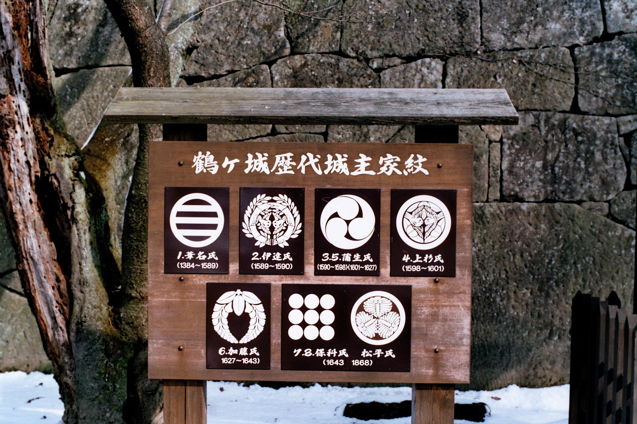 Wakamatsujo the marks of all Daimyōs.jpg