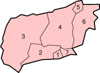 Location of West Sussex