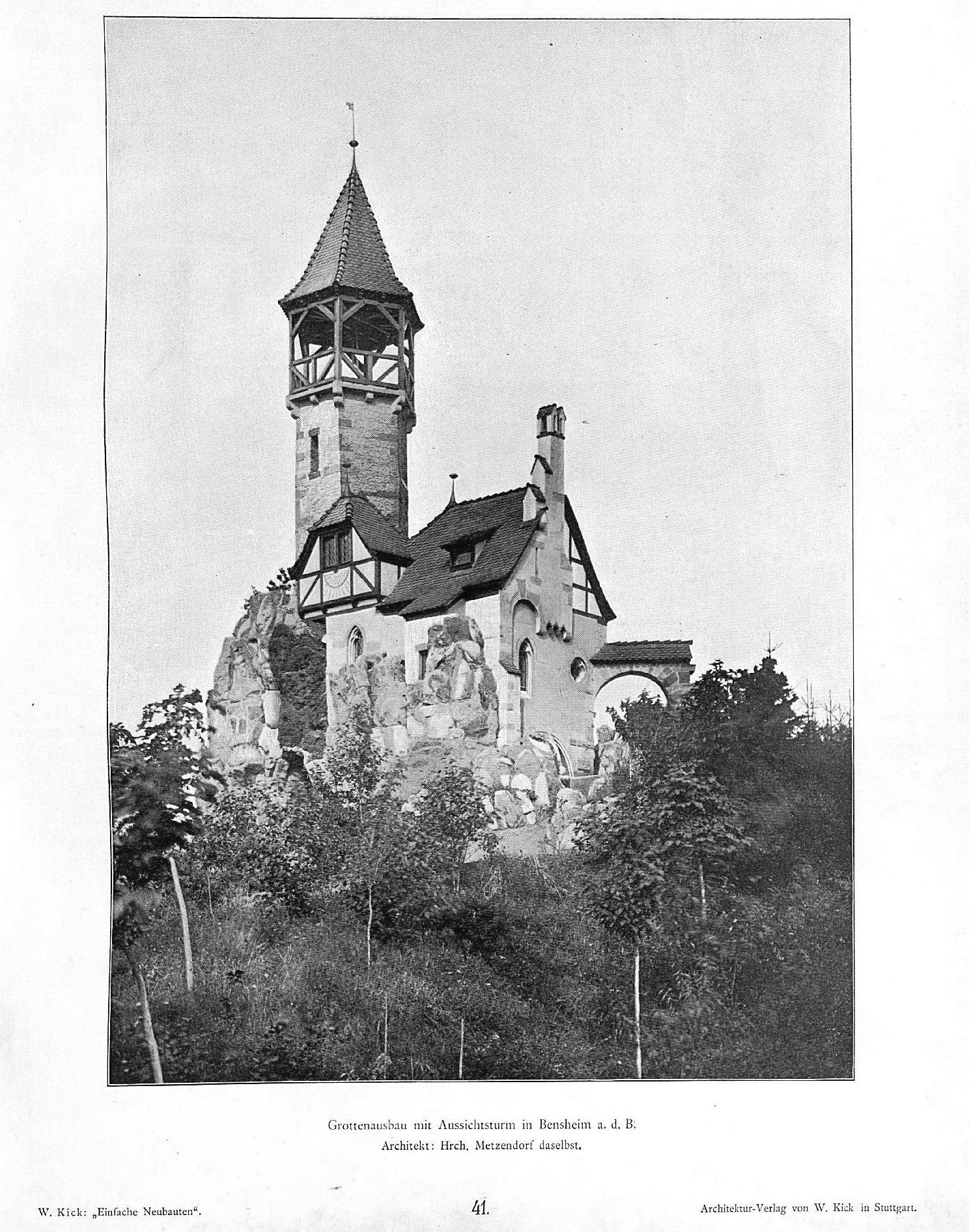 Architekt Bensheim file:wilhelm kick, einfache neubauten, stuttgart 1890, grottenausbau