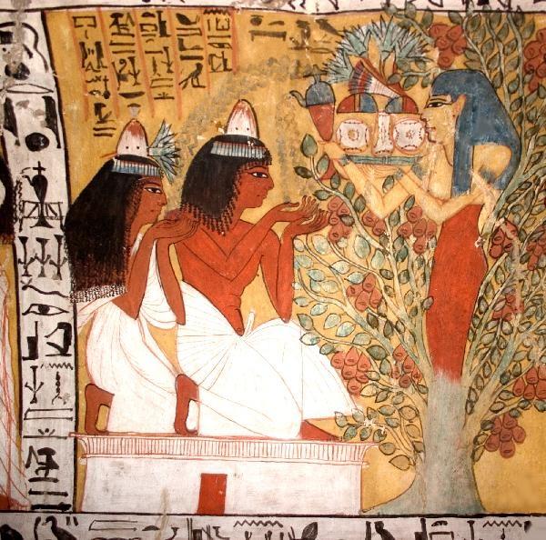 Ēģiptes dieviete Hatora - dzīvības koks