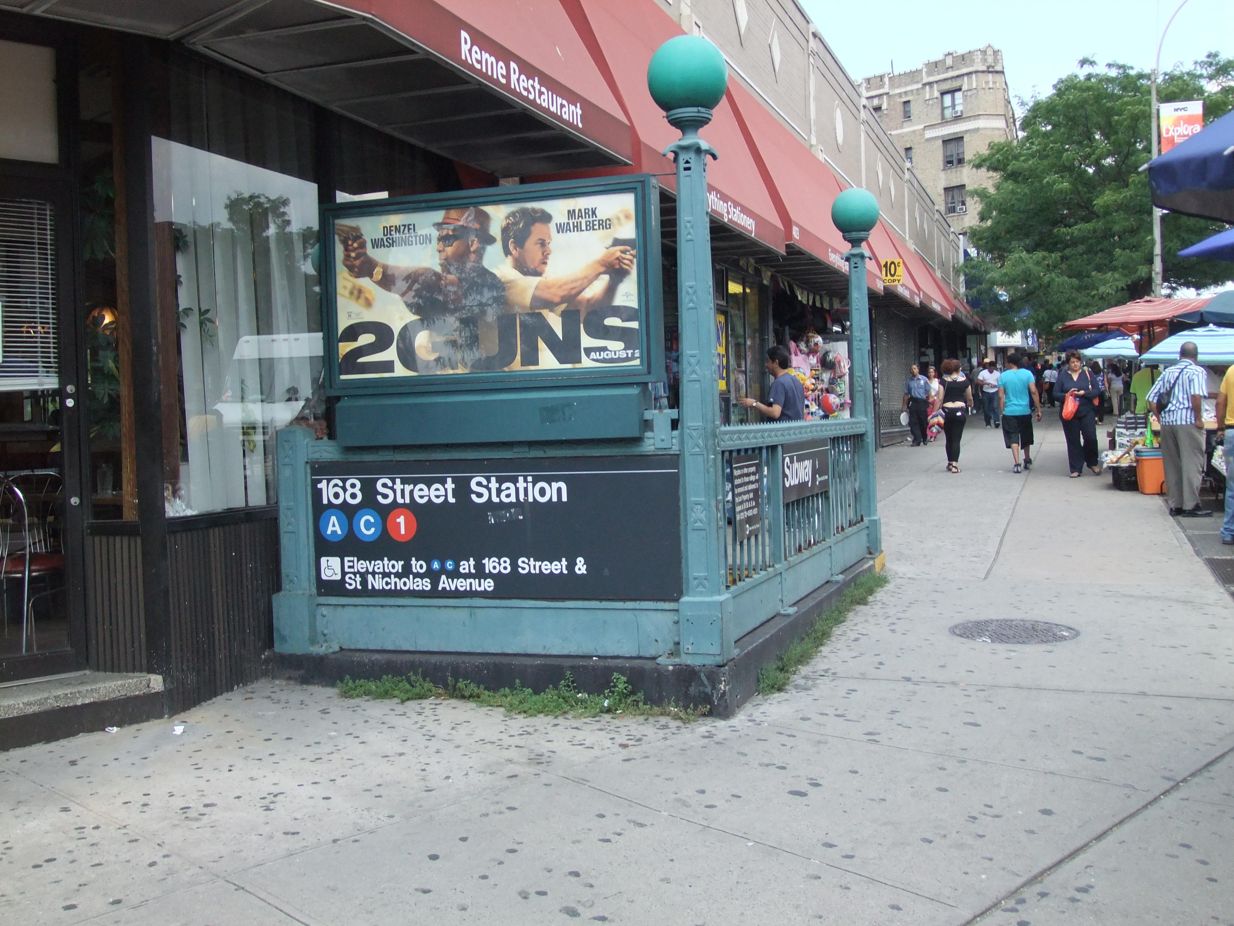 Washington Heights Subway Map.168th Street Station New York City Subway Wikipedia