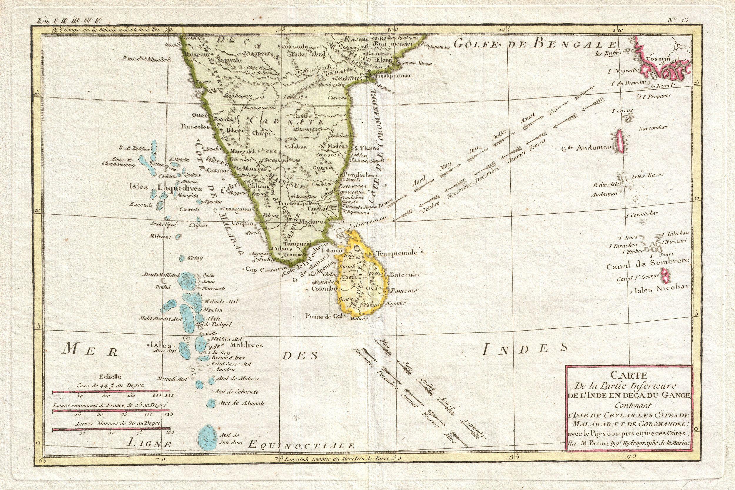 Maldives Map Old