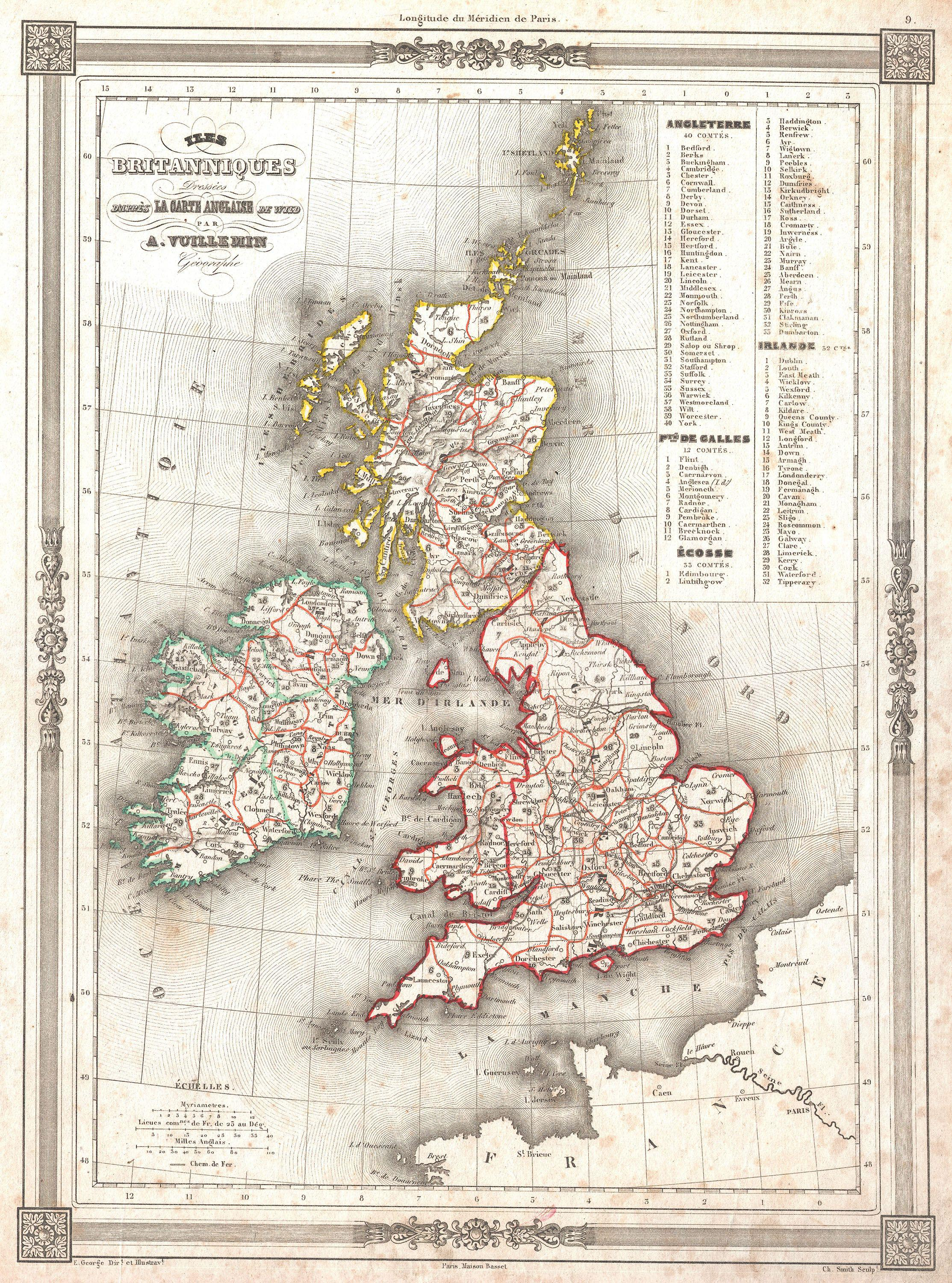 file1852 vuillemin map of the british isles england ireland scotland