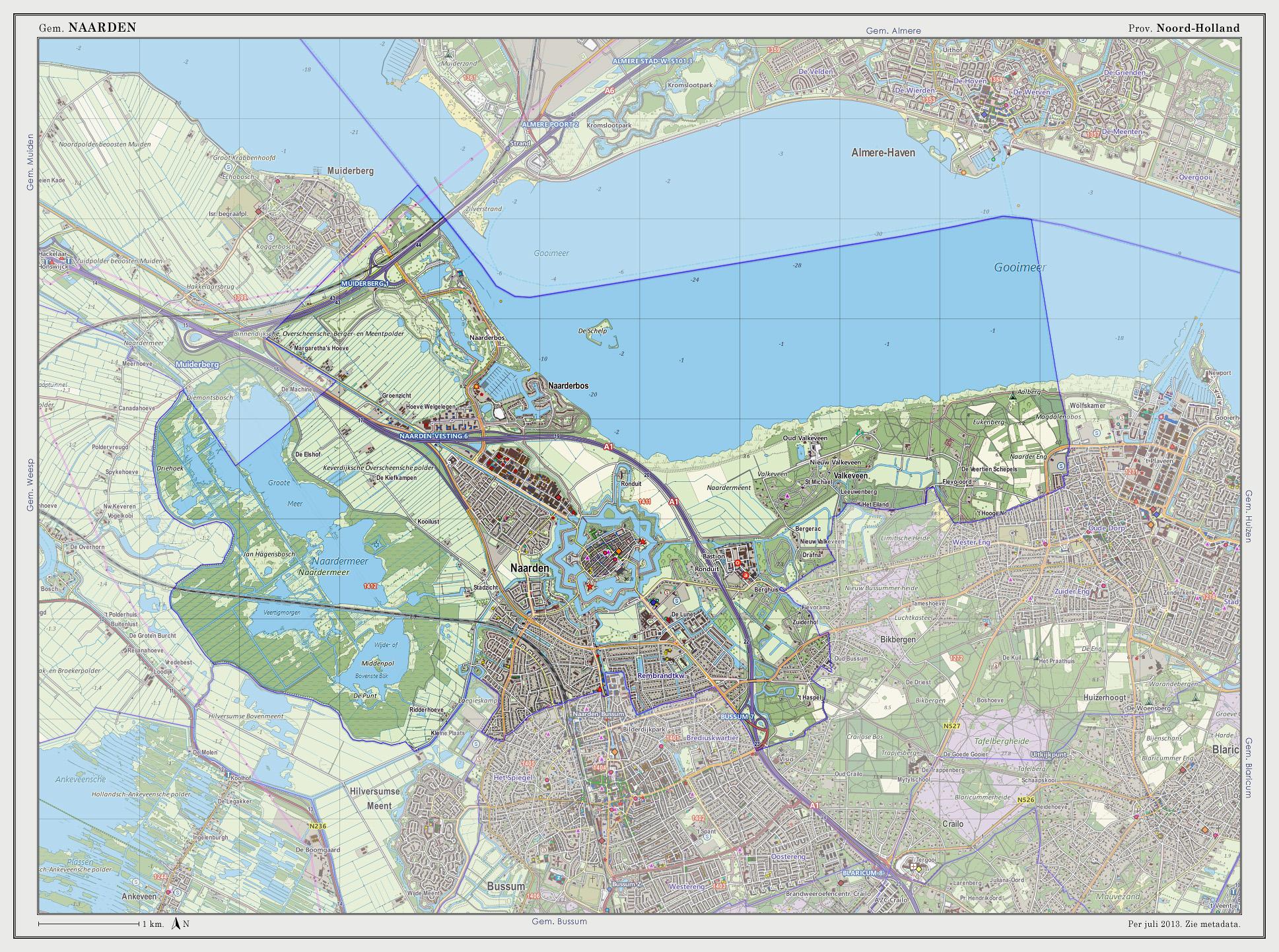 Karten von Naarden und Umgebung, Quelle: WikiCommons