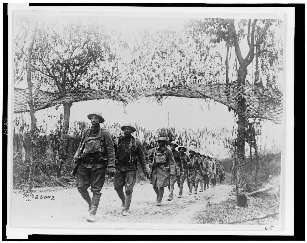 African-American regiment in France