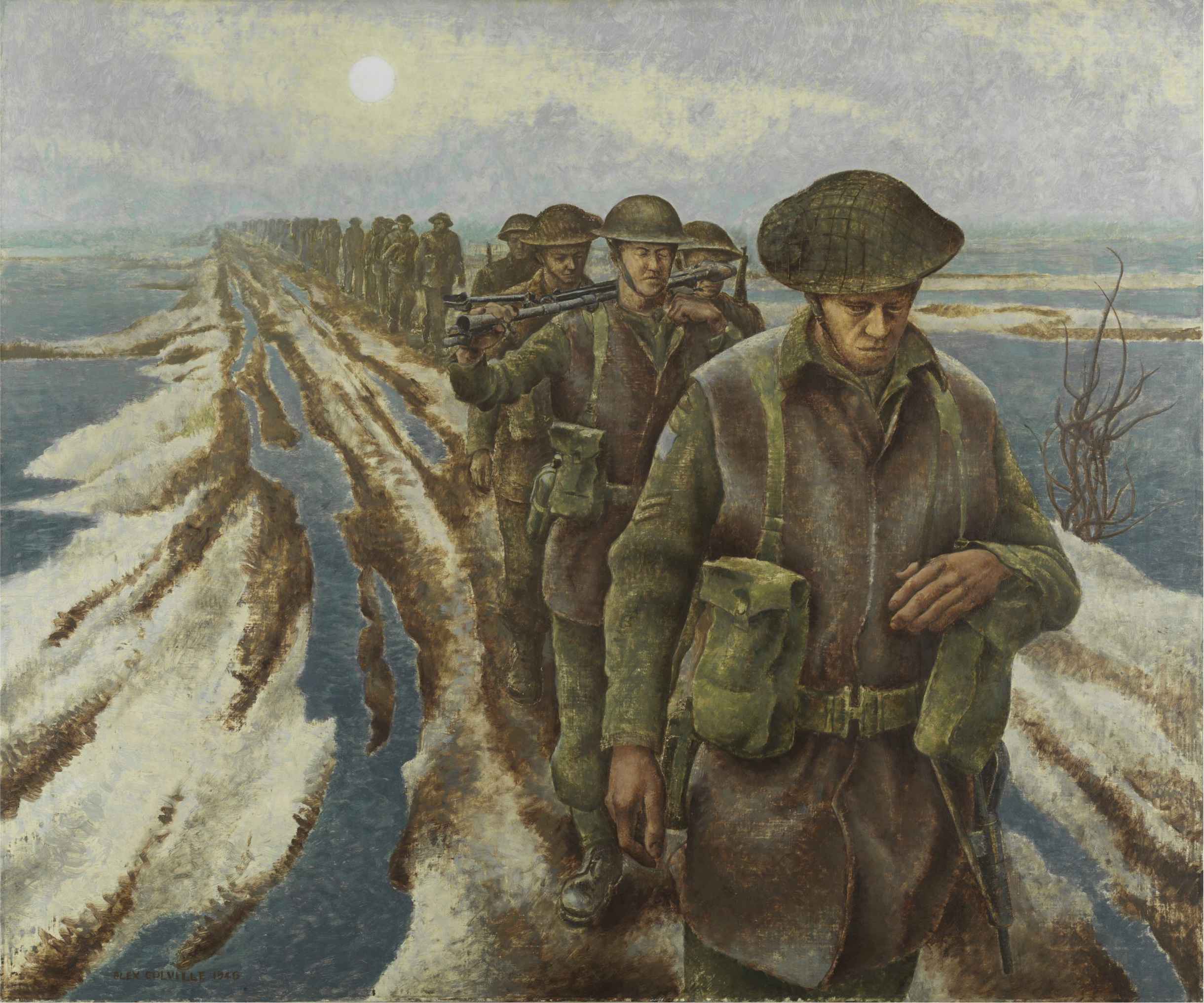 File:Alex Colville - Infantry, near Nijmegen, Holland (CWM 19710261-2079