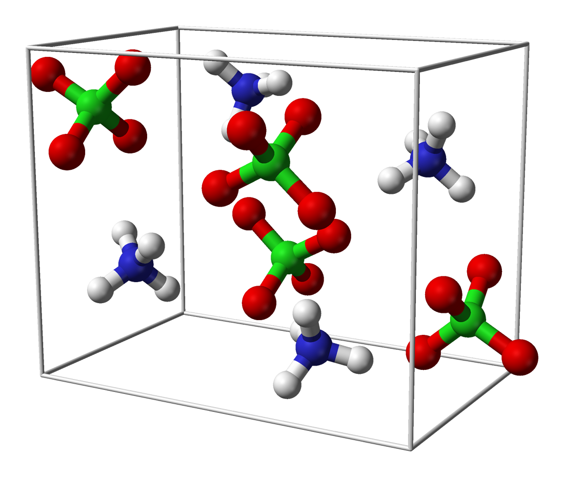 Unit cell of the crystal structure