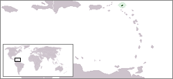 Location of Anguilla in the Caribbean Sea