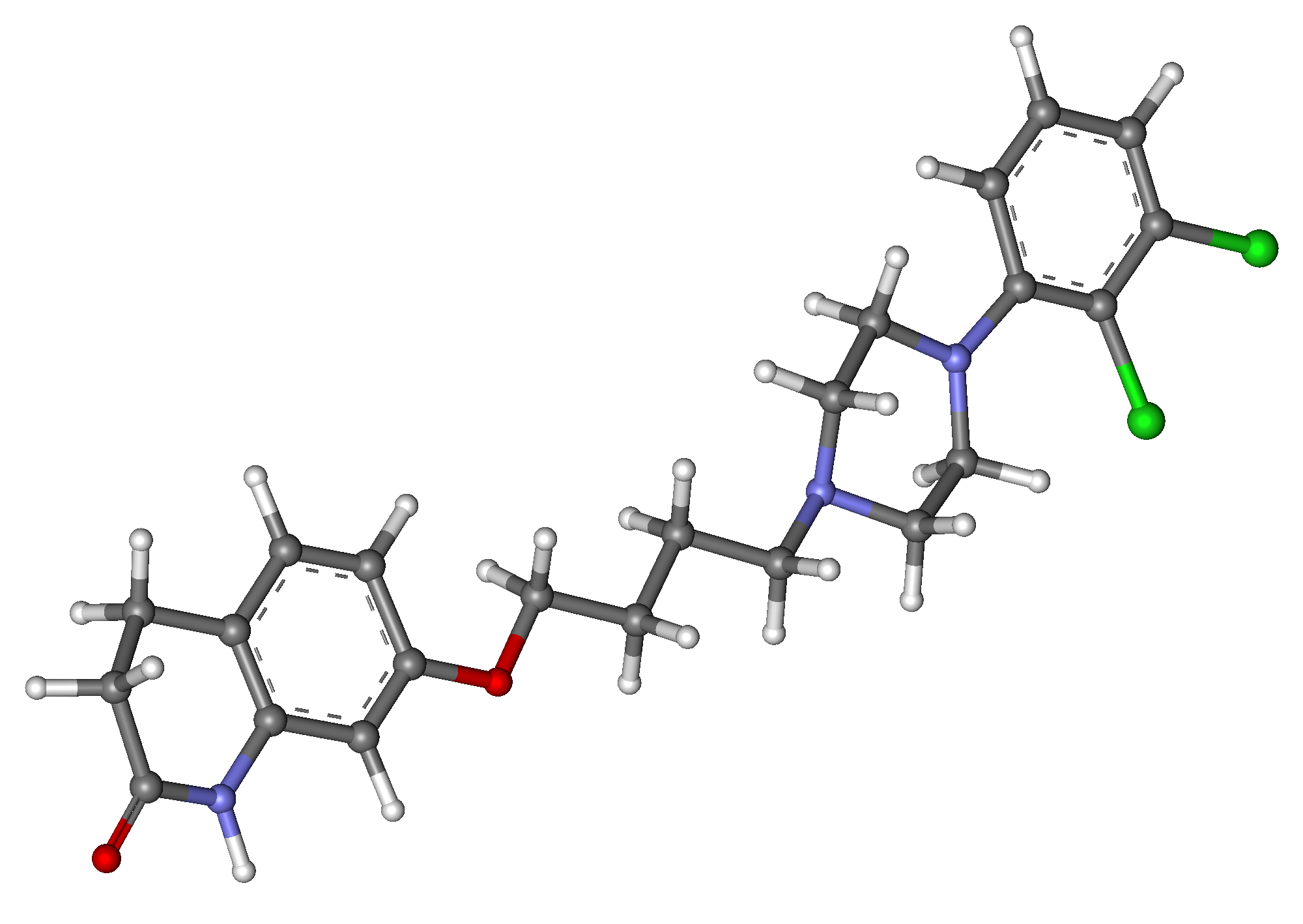 File:Aripiprazole ball-and-stick.png - Wikimedia Commons Abilify Structure