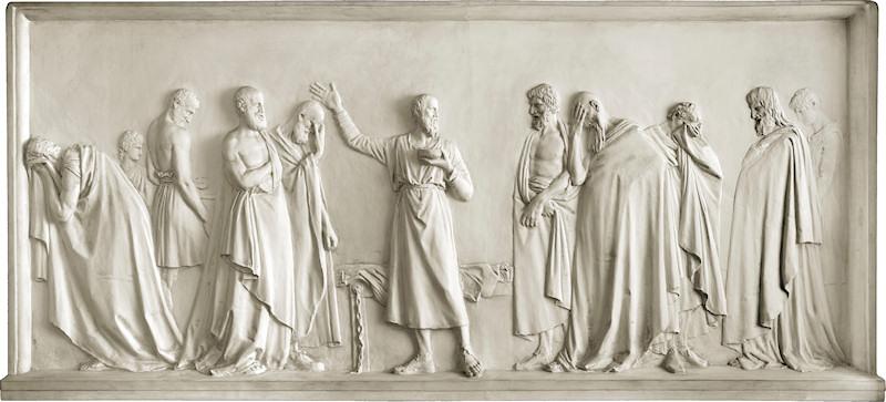 File:Artgate Fondazione Cariplo - Canova Antonio, Socrate beve la cicuta.jpg