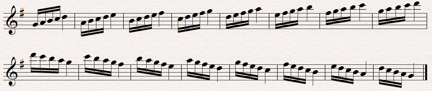 Articulation exercise for saxophone
