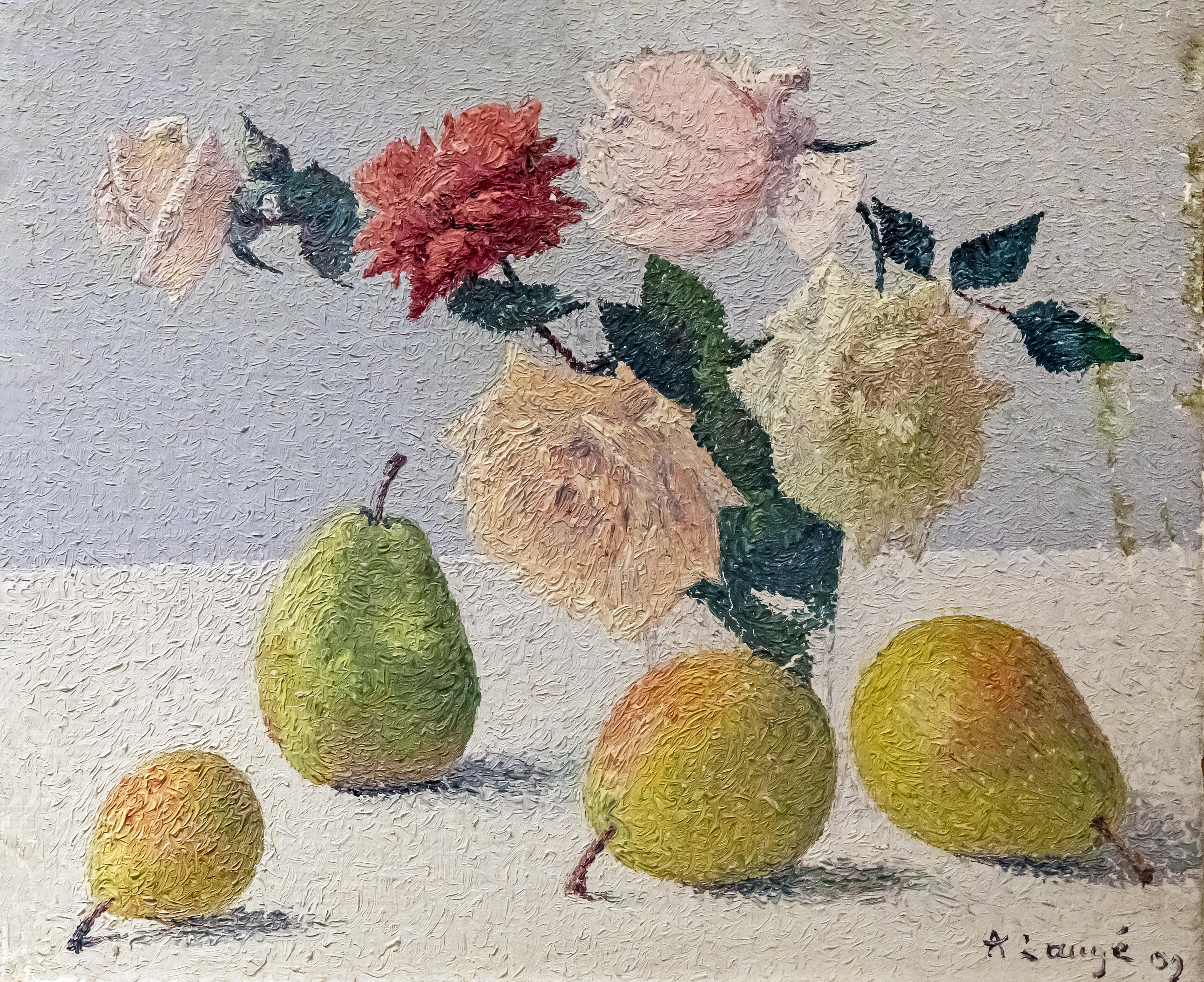 Filebeaux Arts De Carcassonne Fleurs Et Poires 1909