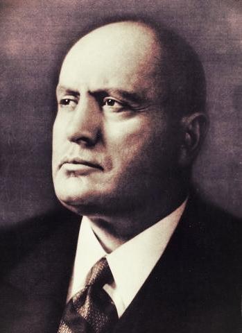 Depiction of Benito Mussolini