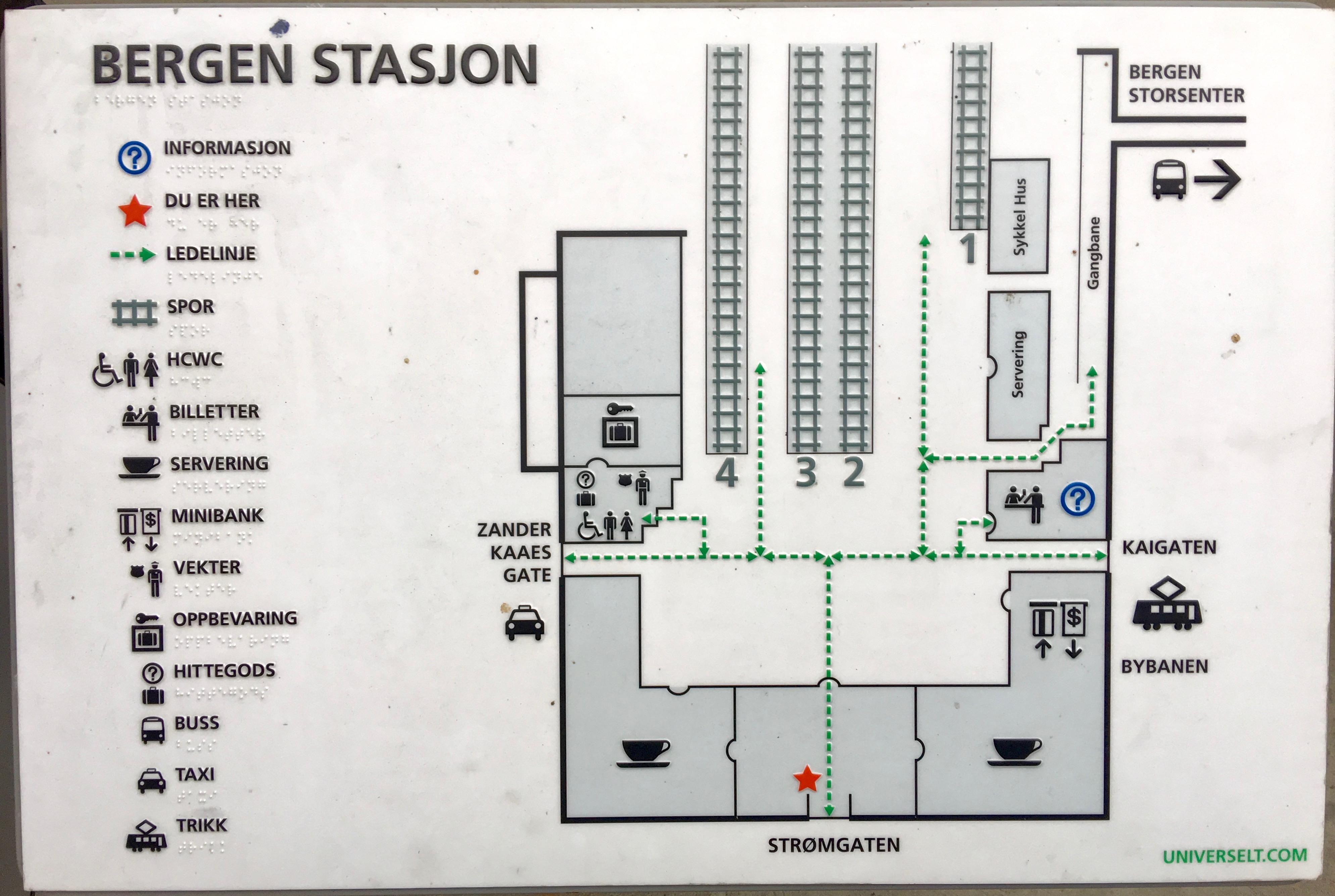 File Bergen Stasjon Skiltplate Med Kart Og Med Punktskrift